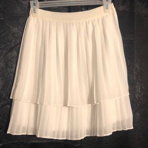 White layered organza skirt